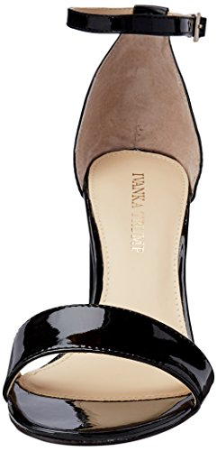 Ivanka Trump Women's Klover Heeled Sandal, Medium Black Patent
