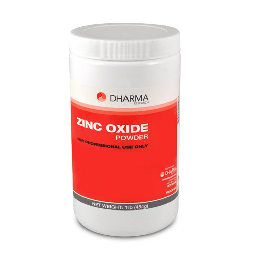 - Dharma 14-00004 Zinc Oxide Powder UPS, Jar x 16 oz, White