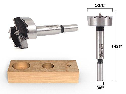 (Yonico 43021S 1-3/8-Inch Diameter Steel Forstner Drill Bit 3/8-Inch Shank )