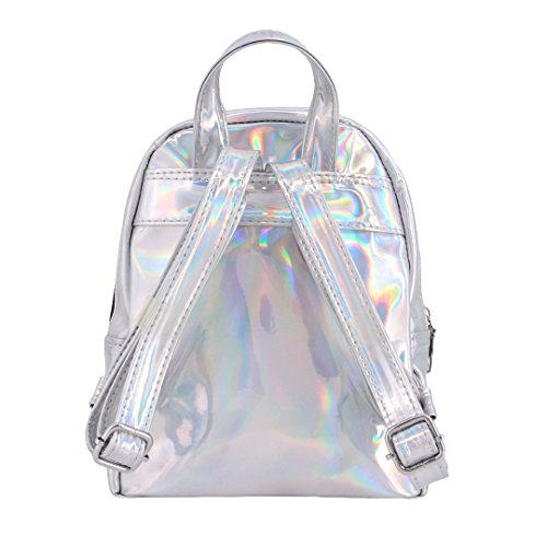 Bag Candice Hologram Backpack Holographic Small Transparent Bag Shoulder School Women Satchel Shiny fwSfxqOC7