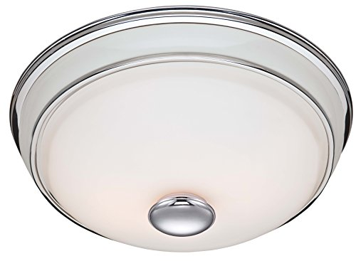 Hunter 81021 Ventilation Victorian Bathroom Exhaust Fan and Light Combination, Silver (Bathroom Vent Fan, Exhaust Fan)