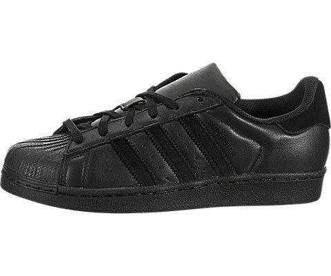 Black Star Shoes - adidas Originals Boys' Superstar J Sneaker, Black/Black/Black, 4.5 M US Big Kid
