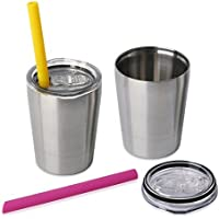 Housavvy 8.5 oz Kids Stainless Steel Cup 2-Pack