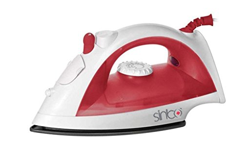 Sinbo Ultraglide Non-Stick and Scratch Resistant Durilium Ceramic Soleplate Steam Iron with...