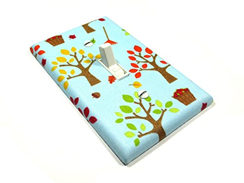 Apple Trees On Blue Light Switch Cover