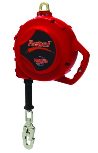 3M Protecta Rebel 3590550 Self Retracting Lifeline, 50' Galvanized Cable, Thermoplastic Housing, Carabiner, 420 lb Capacity, Red by 3M Fall Protection Business