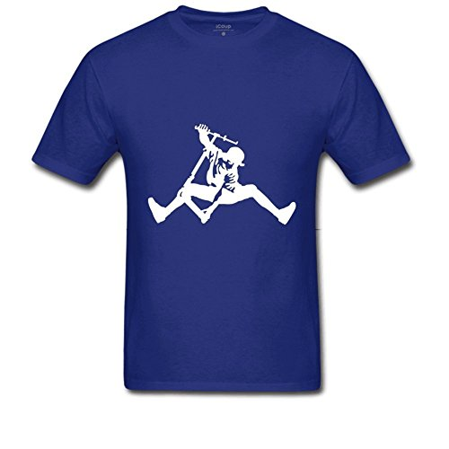 Xword Men's Kick Scooter Cotton Short-Sleeve Crew Neck T-Shirt Small Royal Blue