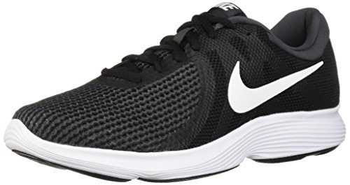 (Nike Men's Revolution 4 Running Shoe, Black/White-Anthracite, 8 Regular US)