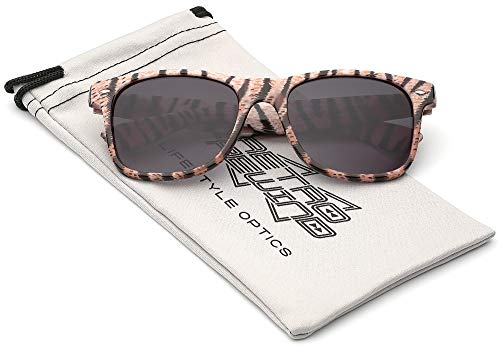 (Children Colorful Animal Print Sunglasses Age 6-14 - Off-White)