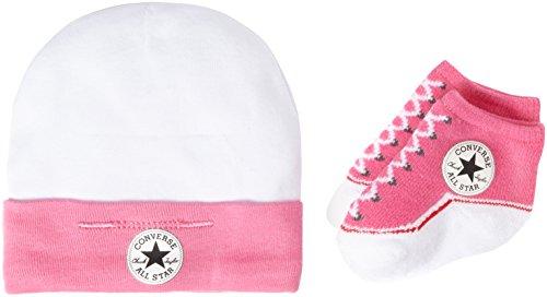 Converse Baby-Mädchen Bekleidungsset Hat and Bootie, Mehrfarbig (Mod Pink), 0-6 Months (Herstellergröße: 0-6M)