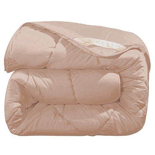 Zhongyu Winter Camel Wool Quilt Luxury Thicken Stitching Comforter Duvet Blanket (150200(3kg), Light - Wool Tan Camel