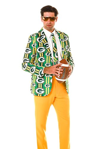 Green Bay Packers Jacket and Tie (Size 44 - Large)