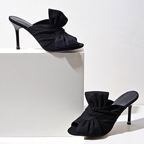 Noir Bout LL2582 Ouvert wetkiss Femme 4IqXw4A