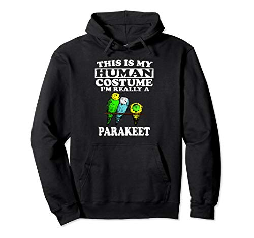 This Is My Human Costume I'm Really A Parakeet Hoodie Gift -