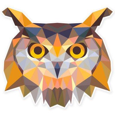 Owl Modern Art Design Vinyl Sticker - Car Window Bumper Laptop - SELECT SIZE