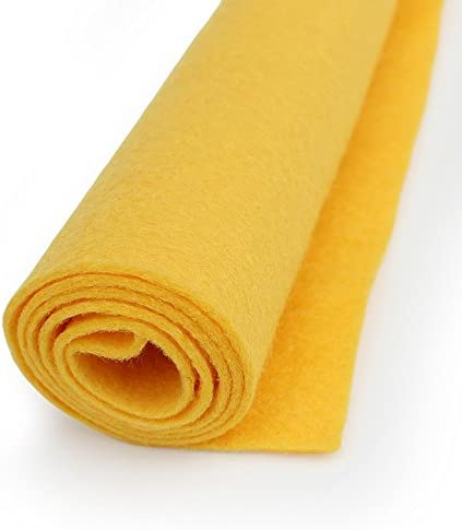 """Felt Acrylic textile fiber blend for sewing // Crafts 72/""""W Bright Yellow"""