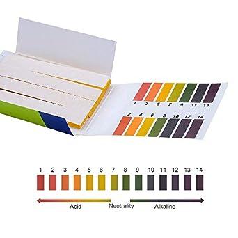 Soccerene Universal pH Test Strips with Color Chart, Full pH Range of 1-14