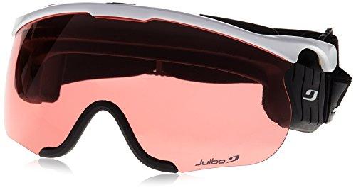 c6b9a3882f3866 Julbo Nordic SNIPER Ski Goggle, Interchangable Lens, White Black, Large