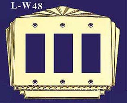 アールデコTriple B00DC6FGO4 GFIスイッチプレートカバー( l-w48 l-w48 アールデコTriple ) B00DC6FGO4, Suteki MORE:0945de6f --- number-directory.top