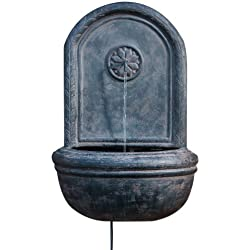 Alfresco Home Resin Cologne Outdoor Wall Fountain