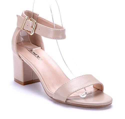 Schuhtempel24 Damen Schuhe Sandaletten Sandalen Blockabsatz 6 cm