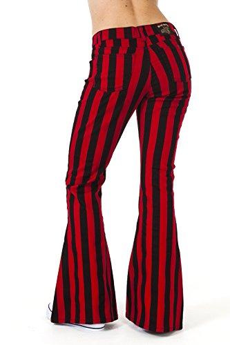 Rouge Run amp; d'lphant Indie Pattes Noir 60 Fly Rayures Vintage annes Femmes Hippie 70 annes et fuses wFrgRwqxzn