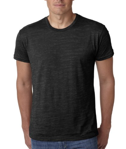 Next Level 6010 Men's Tri-Blend Crew Tee - Small - - Black Tri