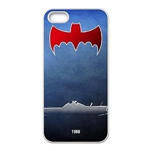 iPhone 5 5s phone case White Batman-Batmobile DDRK5361624