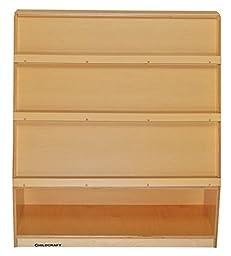 Childcraft 204146 Multi-Storage Book Mobile with 3 Shelves, Birch Veneer Panel, Acrylic, 36\
