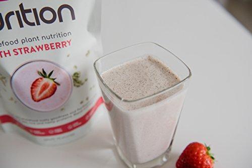 Batido de proteínas de fresa (500g). Ideal para perder peso & recuperación post-ejercicio - sustituto de comida 100% natural - Batido para el desayuno: ...