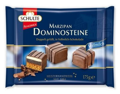 Schulte Marzipan Dominos Milk Chocolate 175g
