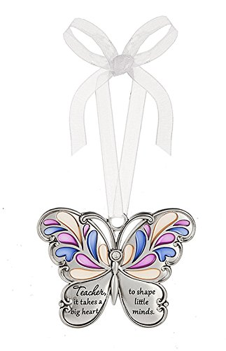 Ganz Butterfly Wishes Colored Ornament - Teacher, it takes a big heart to shape little minds
