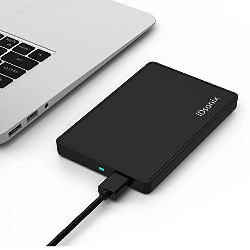 iDsonix Laptop USB 3.0 Sata III External Hard Drive Enclosure Case for 2.5 Inch Slim SSD HDD