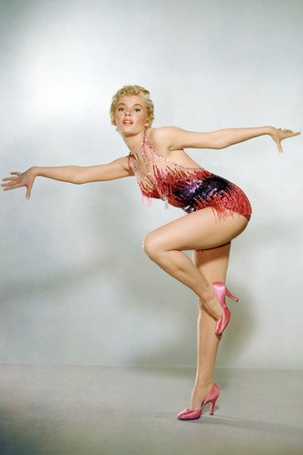 Sheree North Showgirl Costume Red Studio Photo Shoot 24x36 Poster]()