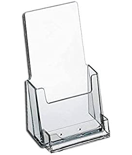 Amazon.com : Clear Acrylic Brochure Holder with Business Card ...