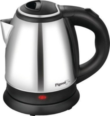 Pigeon SS Electric Kettle Gypsy 1.8 L 2021 June 360 degree rotation cordless kettle Concealed wiring, on and off switch Easy to pour