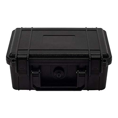 OCGIG Black Small Waterproof Hard Plastic Case Bag Tool Rugged Compact Travel Storage Box Portable Organizer for Camera Video Guns Test Metering Equipment 8.5″x6.5″x3.8″