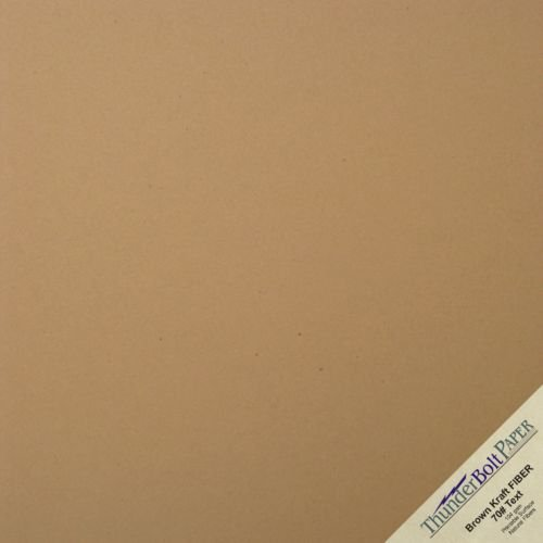 150 Sheets Brown Kraft Fiber 70 lb Text Weight 12 X 12 Inches Paper Scrapbook Album Size by ThunderBolt Paper