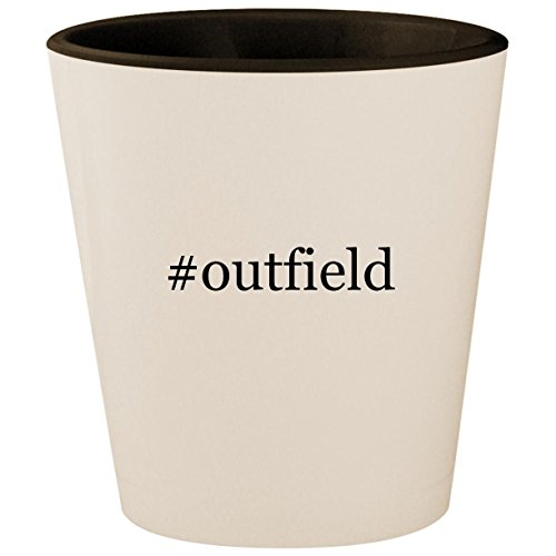 #outfield - Hashtag White Outer & Black Inner Ceramic 1.5oz Shot Glass