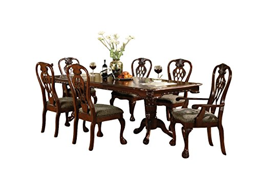 Outstanding Amazon Com Crown Mark Brussels Casual Dining Room Set With Caraccident5 Cool Chair Designs And Ideas Caraccident5Info