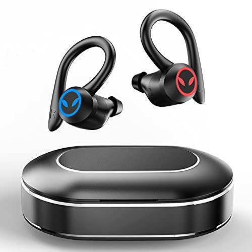 Wireless Earbuds, Motast Bluetooth 5.1 Headphones Sports Bluetooth Earbuds with Mic Earhooks Wireless Earphones in Ear…