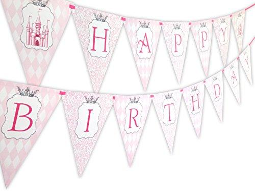 Princess Vintage Happy Birthday Banner Pennant ()