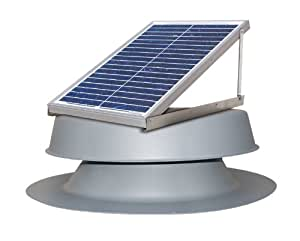 Solar Powered Attic Fan 24 Watt Roof Exhaust Vent Natural Light Solar Panels