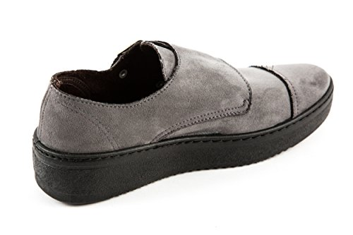 Cordones de Gris Para Piel Mujer 37 Gris Zapatos de Natural EU World tEaqw4