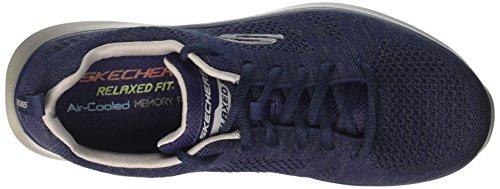Skechers Relaxed Fit Quantum Flex Smyzer Mens Sneakers Blu / Grigio