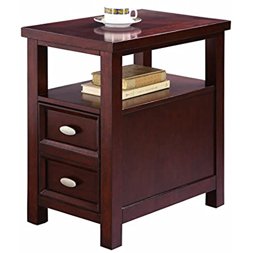 cherry wood end tables living room. Crown Mark Dempsey Chair Side Table Cherry End Tables Living Room  Amazon com