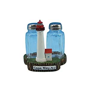 """Cape May Lighthouse Salt and Pepper Shakers 4"""" - Lighthouse Salt and Pepper Sha"""