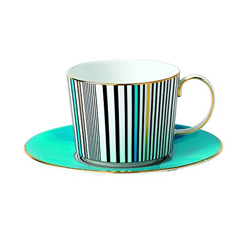 Wedgwood Vibrance Teacup and Saucer Set, Turquoise