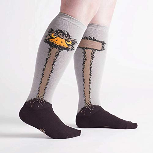Sock It To Me Wide Calf Stretch Ostrich Knee High Socks - http://coolthings.us