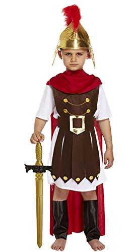 Rimi Hanger Childrens Roman General Fancy Dress Costume Boys Gladiator Emperor Sparta Soldier Outfit Large (10-12 Years)]()